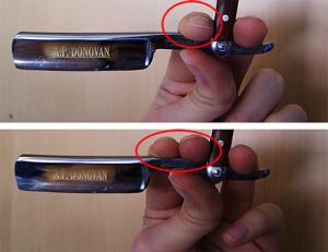 Rasiermesser richtig halten